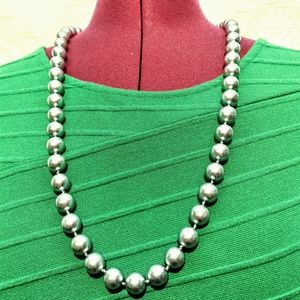 Vintage Faux Silver Pearl Marvella Necklace